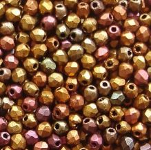 2.5mm Fire Polished, Matt Metallic Bronze Iris - 100